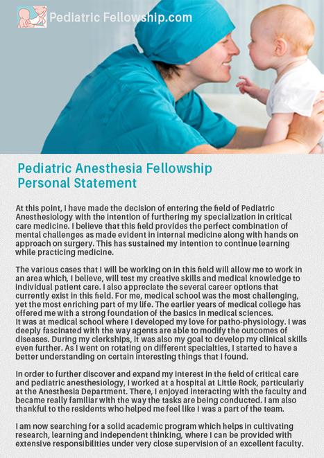 Pediatric Emergency Medicine Fellowship Persona