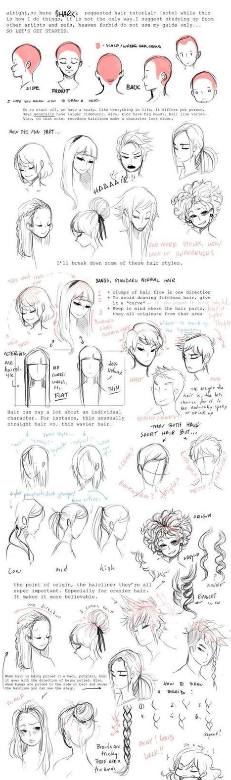 Hair Drawing Reference In Drawing References And Resources