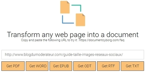 Un outil pour convertir une page web en fichier PDF ou Word | News Tech | Scoop.it