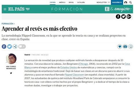 'Aprender al revés es más efectivo' vía El País, por Ana Torres | Aprendiendo a Distancia | Scoop.it