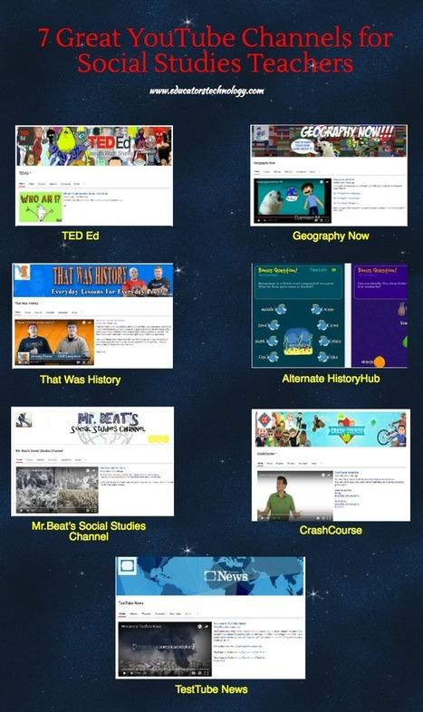 7 Great YouTube Channels for Social Studies Teachers via @medkh9 | διαδικτυοματιές | Scoop.it