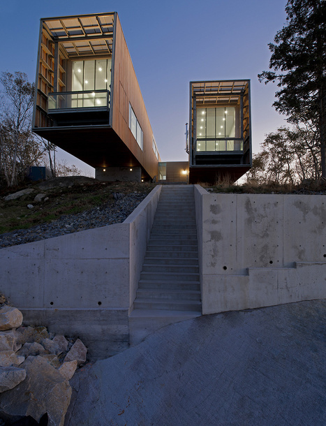 Cantilevered Two Hulls House Overlooking the Sea in Nova Scotia, Canada | PROYECTO ESPACIOS | Scoop.it