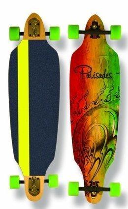 Palisades Peniche Drop Thru Skate Board Complete (Assorted 26b475b493e
