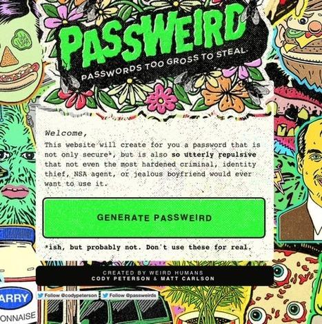 Passweird génère le plus horrible des passwords | News from net | Scoop.it