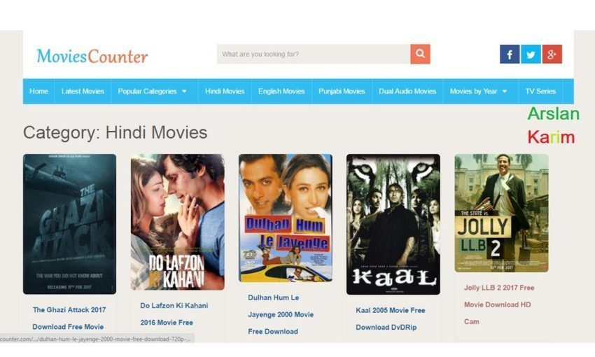 download movies from movie counter