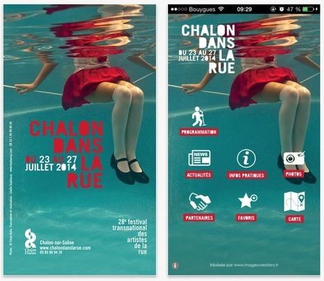 Application mobile Festival Chalon dans la rue | Agence web & mobile Nantes - Rennes - Angers | imagescreations | Scoop.it