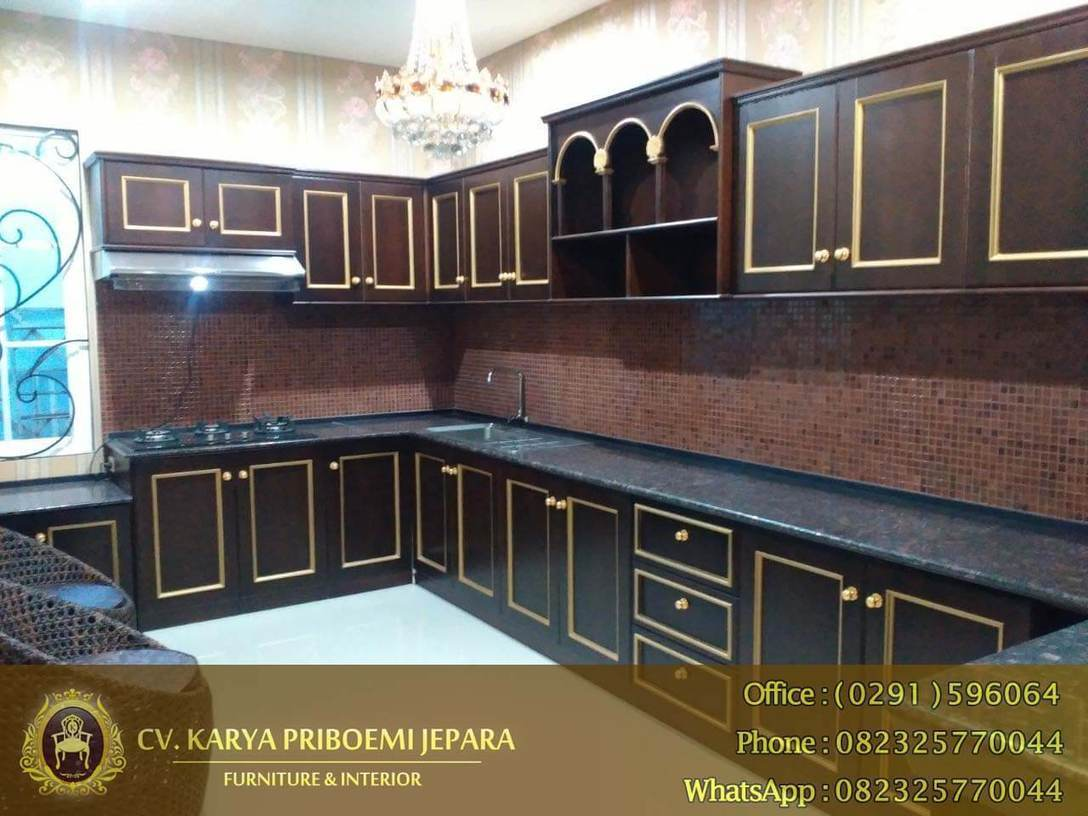 Kitchen set kayu jati antik minimalis furnitu