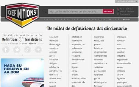 Definitions, conoce el significado y la pronunciación de las palabras con este diccionario para múltiples idiomas - | TIC Educación y Política | Scoop.it
