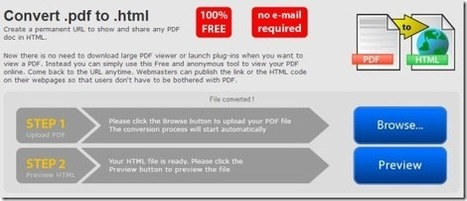 5 Free PDF To HTML Converters To Convert PDF Files Into HTML Format | Time to Learn | Scoop.it