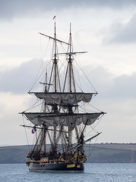 photo en Finistère, Bretagne et...: la frégate Hermione à Douarnenez (5 photos) | Voyages et Gastronomie depuis la Bretagne vers d'autres terroirs | Scoop.it