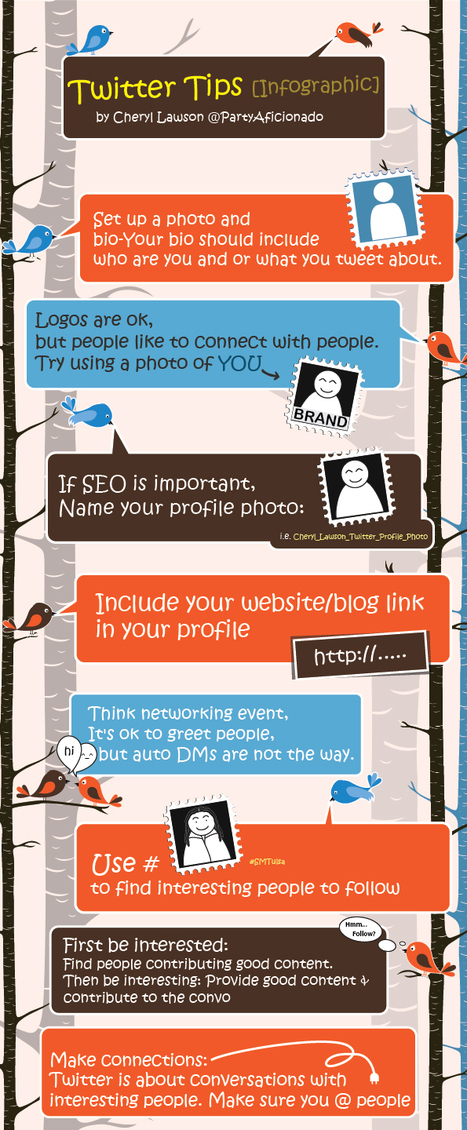 Twitter Tips Infographic | visualizing social media | Scoop.it