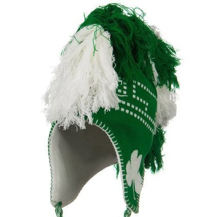 76d2a8b04cf5f Mohawk Irish Jacquard Knit Hat - Kelly White