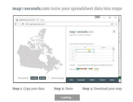 Maps in Seconds. Créez une carte avec vos données en quelques secondes – Les Outils Tice | Ca m'interpelle... | Scoop.it