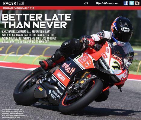 Alan Cathcart tests the Ducati Panigale R F15 | Ductalk Ducati News | Scoop.it