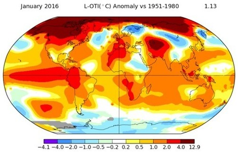 Earth Kicks Off 2016 With the Most Abnormally Warm Month Ever Measured | Climate Chaos News | Scoop.it