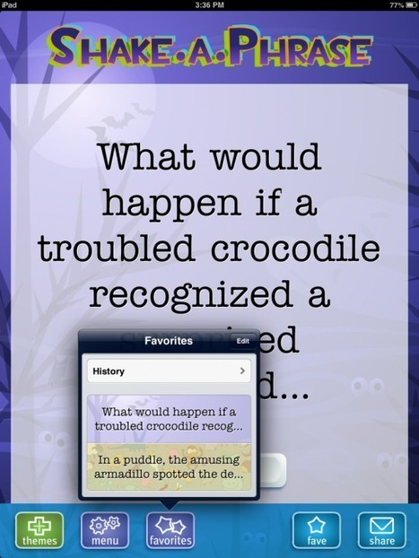 Shake Your iPad to Generate Story Prompts | Education, iPads, | Scoop.it