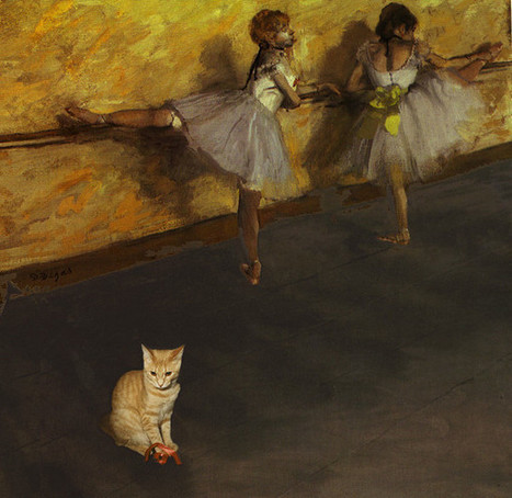 7 Impressionist Paintings Improved by Cats | Cat Art | Scoop.it