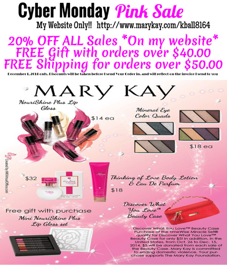Cyber Monday Sale- my site only- 20% off-- Free gift with a $40.00 purchase Free shipping for all sales over $50.00 | Cool Happenings | Scoop.it