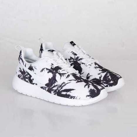 UK Trainers Nike Roshe Run Yeezy Womens Palm Trees White Size 3.5 - 6.5  Clearance Websites
