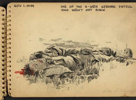 Quand un jeune soldat de 21 ans dessinait la Seconde Guerre Mondiale | Théo, Zoé, Léo et les autres... | Scoop.it