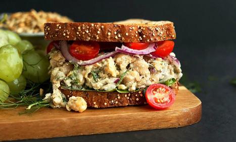 """No-Tuna"" Salad Sandwich - Plant-Based Vegan Recipe | Vegan Food | Scoop.it"