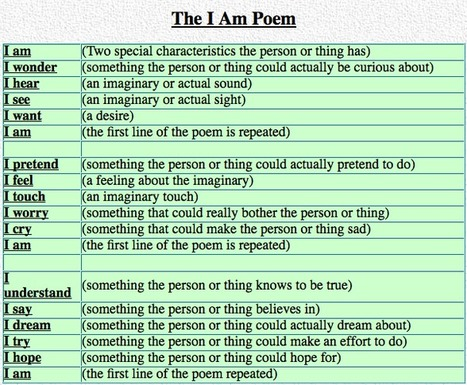 I Am Poems | TELT | Scoop.it