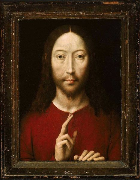 Hans Memling, Christ Blessing, 1481From the Museum of Fine Arts... | Affinities | Scoop.it