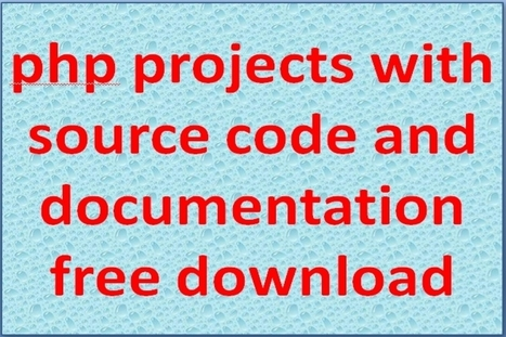 Php Projects with Source Code and Documentation