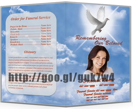Blue Themed Funeral Program Template In Microso – Funeral Program Templates Microsoft Word
