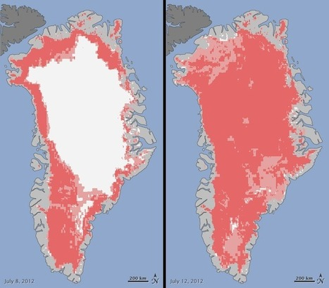 Satellites Observe Widespread Melting Event on Greenland | Geographic Information Sciences | Scoop.it