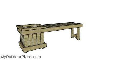 Remarkable 2X4 Planter Bench Plans Myoutdoorplans Free Caraccident5 Cool Chair Designs And Ideas Caraccident5Info