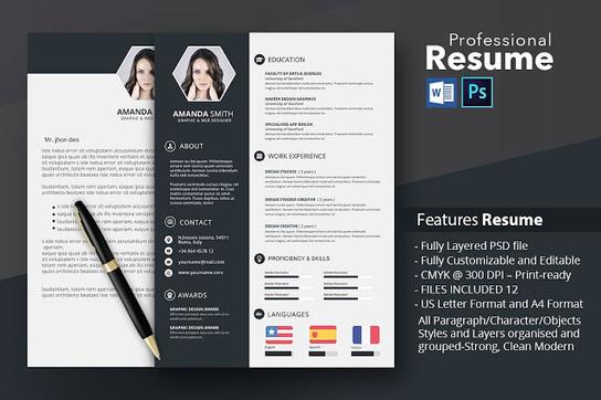 best resume templates in 2015 docx psd scoop it