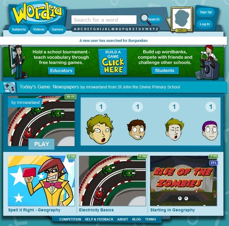 Wordia - help students to learn subject vocabulary through free learning games and video | UDL & ICT in education | Scoop.it