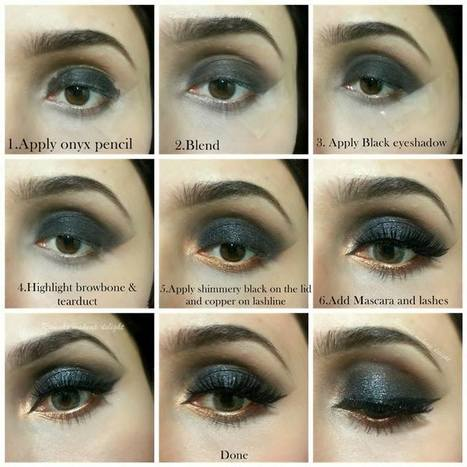Black Smokey Eyes Makeup Tips Tutorial 2017 India Stan Dresses Fashion Trend Mehndi Designs Urdu Beauty
