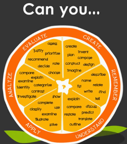 The Blooming Orange ~ Cool Tools for 21st Century Learners | Bloom's Taxonomy Presented Visually | Scoop.it