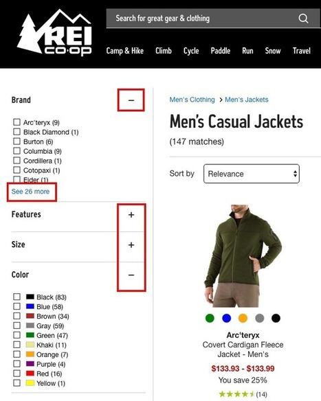 5 bonnes pratiques pour que vos filtres facilitent VRAIMENT la navigation dans votre catalogue e-commerce   creation de sites web   Scoop.it
