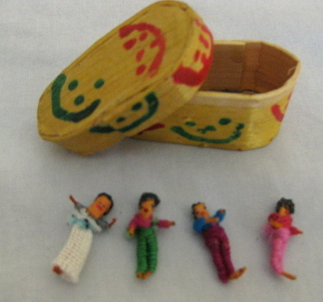 4 Vintage Guatemalan Worry Dolls With Box - The Vintage Village | Vintage Passion | Scoop.it