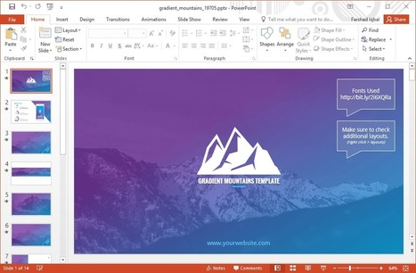 Download free animated powerpoint templates wit animated gradient mountains powerpoint template toneelgroepblik Image collections