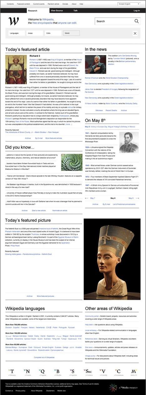 Wikipedia Redefined   Design & Development   Scoop.it