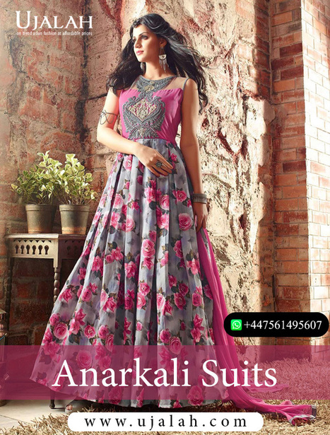 5625347ed7 Have the most stunning look by getting the Stitched Anarkali suits from  Ujalah fashion | Posts by Ujalah Botique