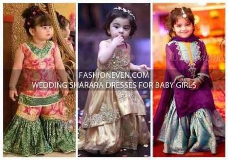 b3664f2b0a4b Baby Girls Sharara Dress Designs 2018 For Weddi...
