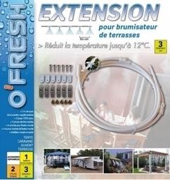 Extension prolongateur 3 mètres pour brumisateur de terrasse O'FRESH ®   Idées décoration maison   Scoop.it