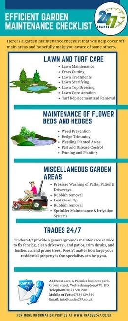 Efficient Garden Maintenance Checklist R