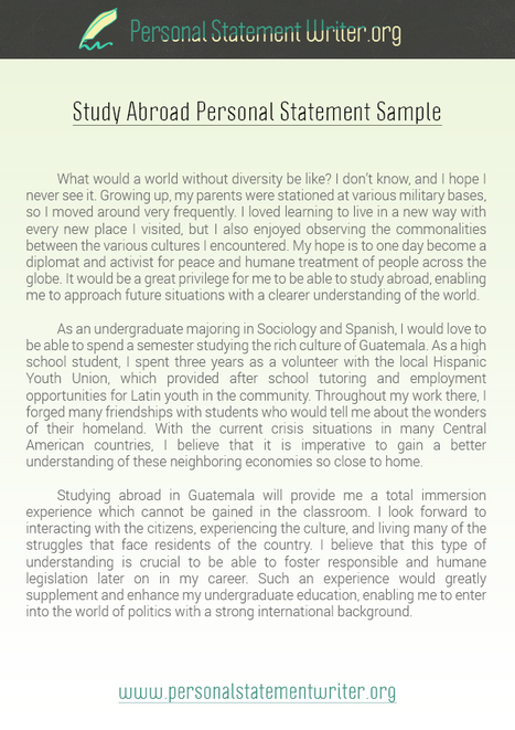 study abroad personal statement sample personal statement writer samples scoopit