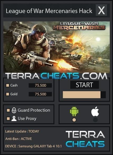 league of war mercenaries android cheats gold telecharger scoop it