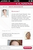 """""""My Personnal Red Line"""" l'appli mobile de Clarins 