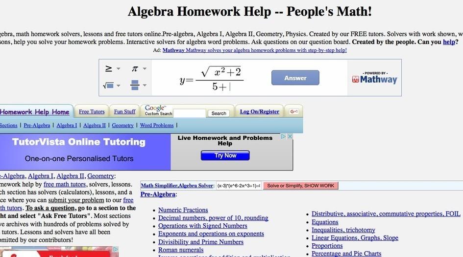 Math Homework Cheat Websites | beyberbopica | ...