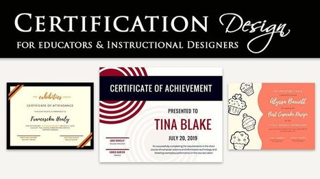 6 Steps To Effective Certificate Design - eLearning Industry | Cibereducação | Scoop.it
