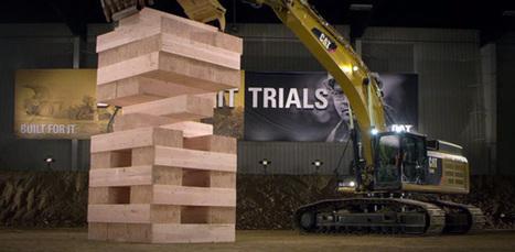 Ce Jenga géant se joue avec des machines de construction | Tendances publicitaires et marketing | Scoop.it