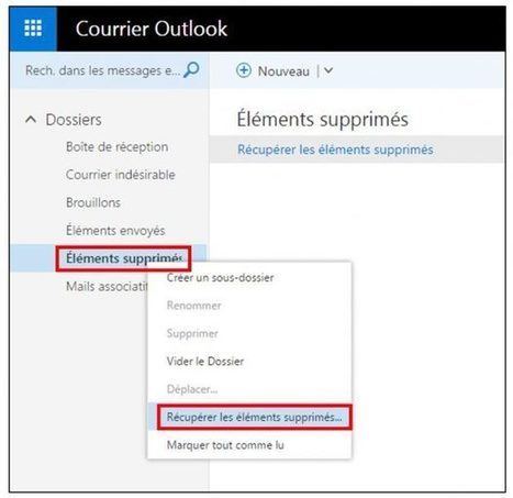 Tutoriel : Office Online, restaurer des mails supprimés dans Outlook | Freewares | Scoop.it